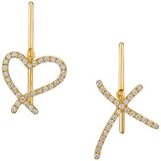 Stephen Webster Yellow Gold and Diamond I Promise To Love You Earrings