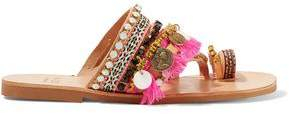 Mabu By Maria Bk Rossetta Embellished Leather Sandals