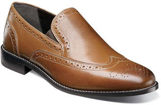 Nunn Bush Norris Men's Wingtip Double Gore Slip-on Dress Shoes