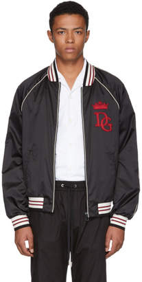 Dolce & Gabbana Black Royals Bomber Jacket