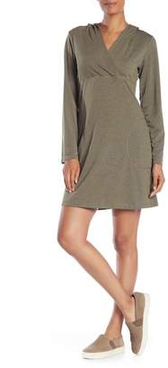 Max Studio Long Sleeve Hooded Knit Dress