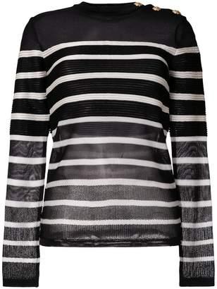 Balmain striped jumper