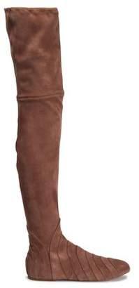 233ea7f6e77 Alaia Pleated Suede Over-the-knee Boots