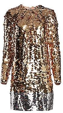 No.21 No. 21 Women's Long Sleeve Sequin Mini Dress