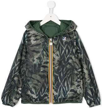 K Way Kids printed hooded jacket