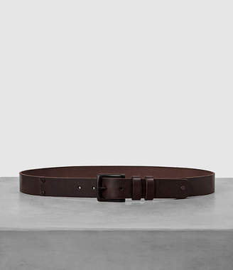 AllSaints Slim Annex Leather Belt