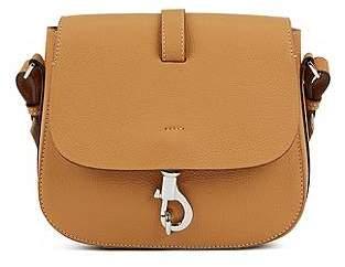 HUGO BOSS Cross-body saddle bag in grainy Italian leather 9846cfdd74723
