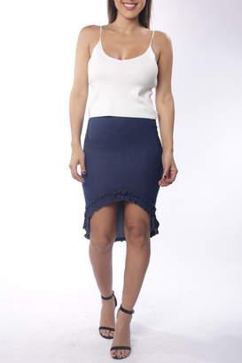 Cattiva Girl Ruffle-Hem Denim Skirt