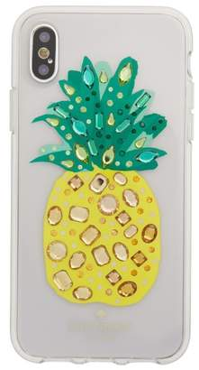 Kate Spade jeweled pineapple iPhone X case