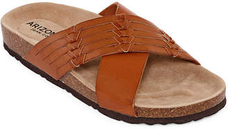 Arizona Fusion Womens Criss Cross Strap Footbed Sandals
