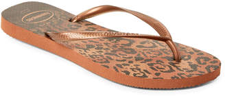 Havaianas Rust Slim Animal Flip Flops