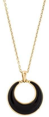 Syna 18K Onyx Luna Pendant Necklace