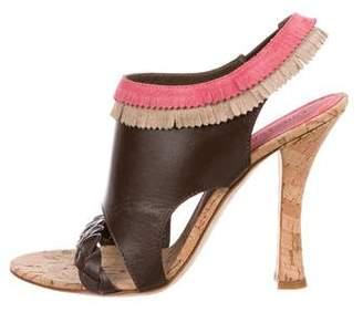 Philosophy di Alberta Ferretti Leather Slingback Sandals