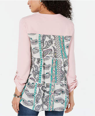 Style&Co. Style & Co Printed Tiered-Back Top