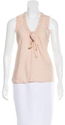 Marc Jacobs Silk-Blend Sleeveless Top