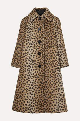 Marc Jacobs Animal-print Alpaca And Cotton-blend Coat - Tan