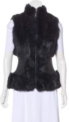 Belle Fare Fur Rib-Knit Vest
