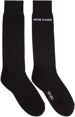 Kenzo Black Paris/New York Socks $50 thestylecure.com