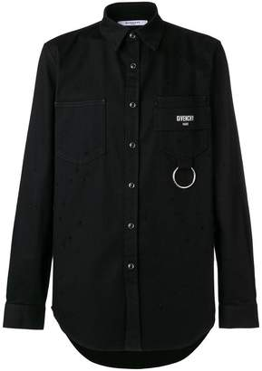 Givenchy logo patch fitted shirt