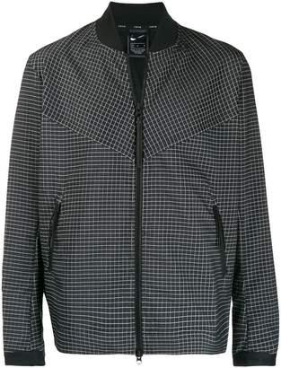 Nike check bomber jacket