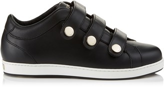 Jimmy Choo NY Black Calf Leather Low Top Trainers
