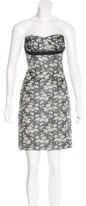 Derek Lam Brocade Strapless Dress
