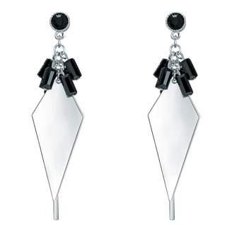 Silver/Black Drop Earrings