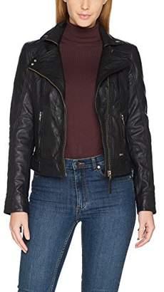Mustang Leather Women's Mara Jacket, (Black 1000), Large
