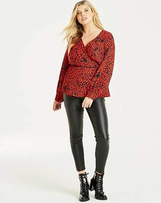 94d40c45b428cd Animal Print Wrap Top - ShopStyle UK