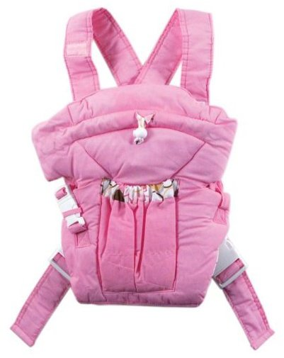 Luvable Friends Light Colors Soft Baby Carrier - Pink