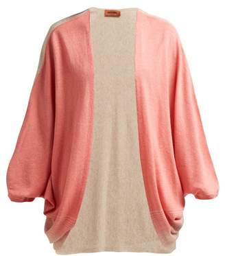 Missoni Batwing Sleeve Cashmere Blend Cardigan - Womens - Pink Multi