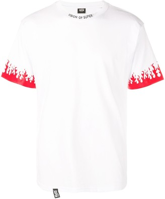 Vision Of Super flame cuff T-shirt