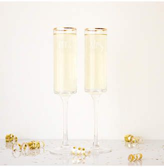 Cathy's Concepts Cathys Concepts Set Of 2 8Oz Mr. & Mrs. Gold Rimmed Champagne Flutes