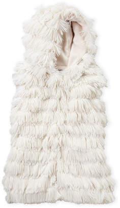 American Widgeon (Girls 4-6x) Shaggy Faux Fur Hooded Vest