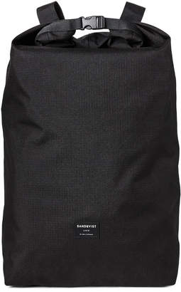 SANDQVIST Black Roll Top Backpack