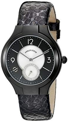 Philip Stein Teslar Women's 41B-DMBW-CHGR Round Analog Display Japanese Quartz Black Watch