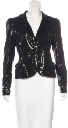 Nanette Lepore Fitted Sequin Blazer $95 thestylecure.com