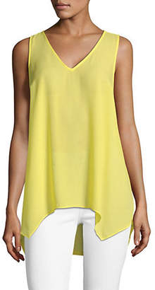 INC International Concepts V-Neck Hanky Hem Tank