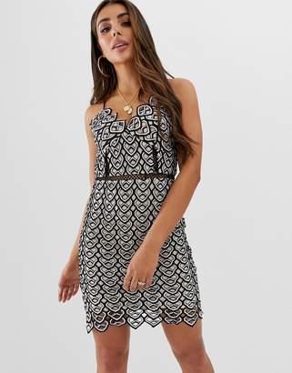 Missguided Crochet Detail Strappy Mini Dress