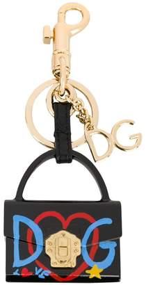 Dolce & Gabbana Lucia charm key ring