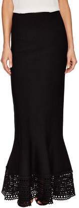 Alaia Women's Embroidered Eyelet Maxi Skirt