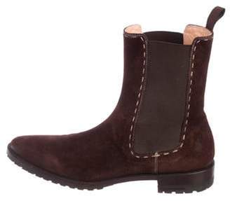 Santoni Suede Ankle Boots brown Suede Ankle Boots