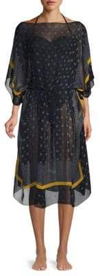 Stella McCartney Printed Cotton Caftan Cover-Up