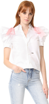 DSQUARED2 Puff Short Sleeve Top $690 thestylecure.com