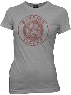 Ripple Junction Saved By The Bell Bayside Tigers PE Tee Junior T-Shirt XL Heather Grey