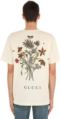 Gucci Chateaux Marmont Printed Cotton T-Shirt