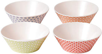 Royal Doulton Pastels Melamine Cereal Bowl, Set of 4, Multi, Dia.15cm