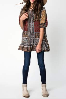 Hayden Los Angeles Boho Mix-Print Tunic
