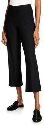 Eileen Fisher Stretch Crepe Ankle Flare Pants