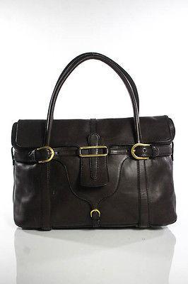 Jimmy ChooJimmy Choo Hickory Brown Leather Gold Hardware Double Handle Tulita Handbag